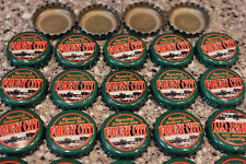 100 FOREST CITY SPECIAL AMBER ALE BEER BOTTLE CAPS NO DENTS DARK GREEN FAST SHP