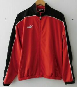 Vintage PUMA Ropa Sport German 90's Red Zip Tracksuit Sweatshirt Jumper GB34/36