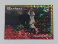 2019-20 Panini Mosaic - #'d 10/10 - MONTAGE GOLD MOSAIC - 4. RUSSELL WESTBROOK