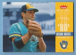2006 Fleer Greats of the Game Decade Paul Molitor #DEC-PM Milwaukee Brewers