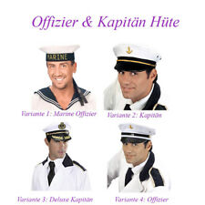 KAPITÄN HUT Karneval Fasching Seemann Matrose Kostüm Mütze Kopfbedeckung # F12