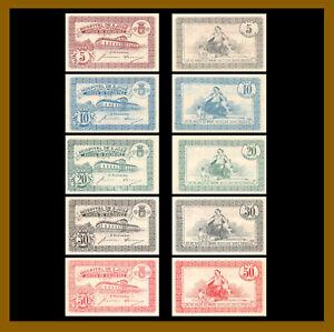 Portugal 5 - 50 Centavos (5 Pcs Set), 1920 Emergency Hospital S. Jose (XF/AU)