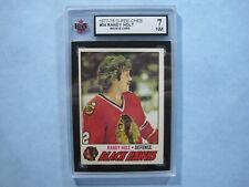 1977/78 O-PEE-CHEE NHL HOCKEY CARD #34 RANDY HOLT ROOKIE KSA 7 NM SHARP!! OPC