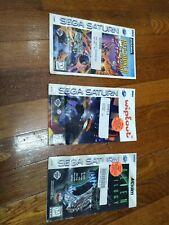 Lot of 3 Sega Saturn Instruction Manuals ONLY
