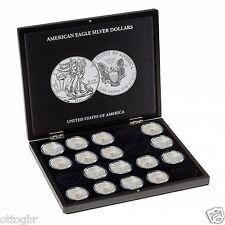 348033 Leuchtturm Münzkassette für20 American Eagle-Silber-Oz in Kapseln,schwarz