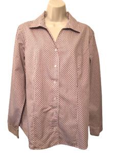 Christopher & Banks Women's Blouse Size L Long Sleeve Button Down Shirt