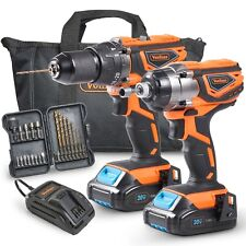 VonHaus 20V Cordless Li-Ion Impact Drill Driver Combo Kit with Battery & Charger