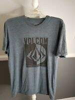 Volcom Mens Large Short Sleeve Crewneck T-Shirt Graphic Stone Print Casual