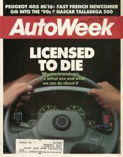 AUTOWEEK 1988 AUG 08 - PEUGOET405 Mi16, TEEN DRIVERS, 1953 ARNOLT-ASTON MARTIN