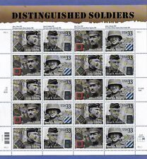 U.S. Pane Of 20 Scott#3396a 2000 33ct Distinguished Soldiers Var P#'s At Face