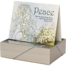 $ New PRECIOUS MOMENTS 12 Inspiration Greeting Cards LOVE PEACE BLESSING Box Set