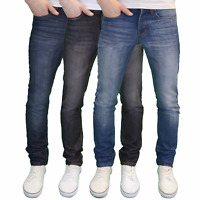 Stone Edge Mens Designer Branded Slim Fit Jeans, Available in 3 Colours BNWT
