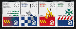 MINT 2010 EMERGENCY SERVICES STAMP SET OF 4