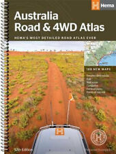 NEW Australia Road & 4WD Road Atlas By Hema Maps Spiral Ringed Book