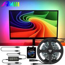 AMill 5V WS2812B USB LED Strip Light 5050 RGB Ambilight Kit for HDTV Desktop PC