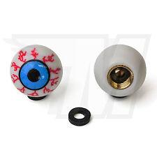 2x Tapón De La Válvula AUS plástico para Neumáticos coche, bola ojo en blanco