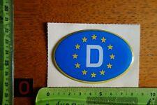 Alter Aufkleber dick (Gel?) Schild Piktogramm EUROPA DEUTSCHLAND (Folie weiß)