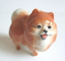 * High Quality Handmade Miniature Ceramic Pomeranian Dog Figurine *
