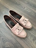 Russell And Bromley Chester Tassle Loafers Blush Size 39.5