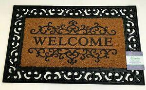 """Decorative Printed Coir Grill Brush Outdoor Welcome Door Mat-Atlanta, 18x30"""""""