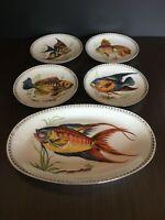 Set Piatti Vassoio Bavaria Shumann Arzberg Germany Pesci Fish Plate