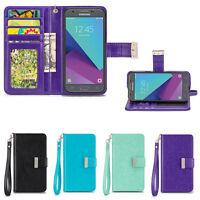 IZENGATE Wallet Leather Flip Case Cover Folio for Samsung Galaxy J3 Luna Pro