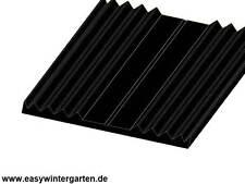 Unterleggummi - Riefengummi 50 mm - Glasauflage Gummi EPDM schwarz - 4mm stark