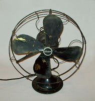 Antique vtg 1920's Brass Blade Electric Fan Century S3C - 16 MODEL 264 No N-3