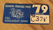 VTG USC Gamecocks 1979 Parking Pass Full Scholarship Donor RARE