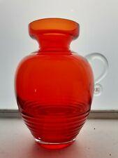 Riihimaki 'Kleopatra' Red Glass Jug/Vase Tamara Aladin Mid-Century Art Glass MCM