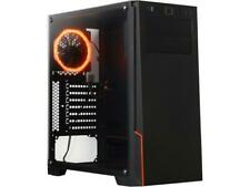 DIYPC M28-TG Black USB3.0 Steel/ Tempered Glass ATX Mid Tower Gaming Computer Ca