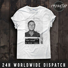 Steve McQueen T Shirt Mug Shot Police The King Of Cool Great Escape Gift