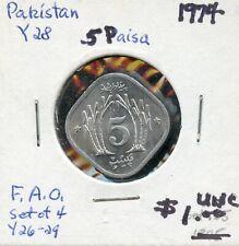 1974 Pakistan 5 Paisa Coin FN426