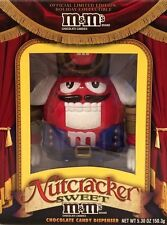 New M&M Nutcracker Sweet Red Dispenser Limited Edition Collectible Original Mint