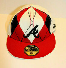 59Fifty Hat NEW ERA Mens Wool ATLANTA BRAVES Home Cap SZ:6 7/8