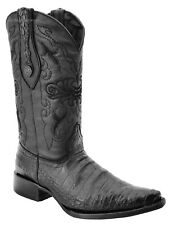 Men's White Diamonds Crocodile Belly Print Cowboy Boots 3X Pointy Toe Handmade