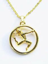 Floor Exercise Gymnastics Necklace - High Gloss Goldtone
