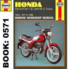 Honda CB125T CB125TD CD125T CM125C Twins 1977-88 Haynes Workshop Manual
