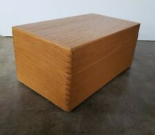 Vintage Peters Artist Wood Products Index Recipe Card Filing Box Dovetail 1960s