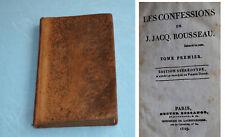 Rousseau les Confessions 1829 Edition stéréotype Tome I Edition stéréotype