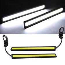 2x 17cm 12V Car LED DRL Fog Strip Daytime Running Bright Lamp COB White Light
