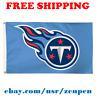Deluxe Tennessee Titans Team Logo Flag Banner 3x5 ft NFL Football 2019 NEW