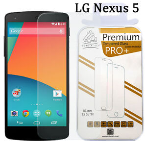 For LG Nexus 5 New 100% Genuine Gorilla Tempered Glass HD Film Screen Protector