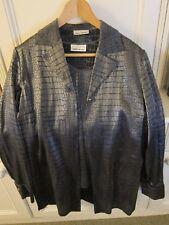 Gerry Weber Silver Grey Animal Print Satin Look Jacket & matching top - Size 14