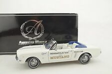 1:18 Ertl Authentics 1964 1/2 FORD MUSTANG INDY 500 PACE CAR white -neu/OVP $