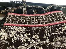 Vera Bradley VERA Tote Bag IMPERIAL TOILE - Brown Pink White!