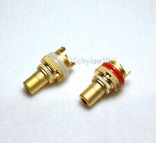 2pcs CMC 805-2.5F-G Gold plated RCA Phono socket female connector
