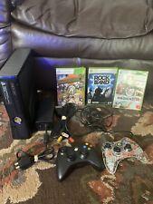 Microsoft Xbox 360 S Slim Matte Black Model 1439 Console W/ controllers Games