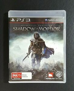 Middle Earth Shadow Of Mordor (Sony PlayStation 3, 2014) PS3 Game - FREE POST