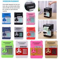 Automatic Password Safe Box Money ATM Piggy Bank Mini Safe Cash Coin Kids Toys